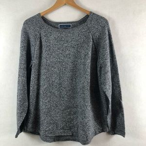 Karen Scott large blue/Gray crew neck sweater